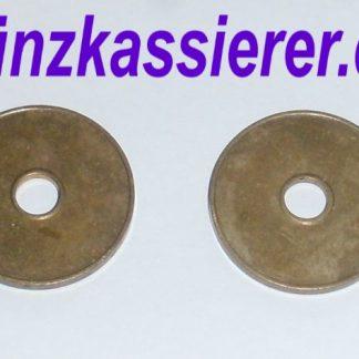 10 x Wertmarken Ø 27 x 2,3 Loch Ø 6mm. Münzkassierer