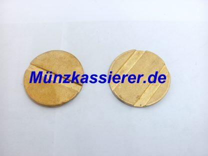 Münzprüfer Wertmarken PD27 WM27 Ø 27 x 2mm. 1 & 2 Rillen MPR 310