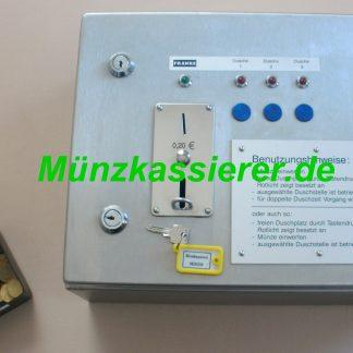 Münzautomat Münzkassierer 3 x DUSCHE 12V FRANKE 20Cent