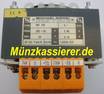 Riedel RST 100 TRAFO Transformator Netzteil 230VAC 24VAC 100VA Kleinspannung